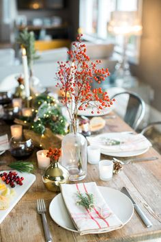 See more images from an intimate holiday gathering--with a heartfelt table to match! on domino.com