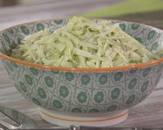 Gwen's Cole Slaw Recipe : Trisha Yearwood : Food Network | Instead of adding sugar to sweeten this coleslaw, she uses sweet pickle relish. I bet this would be fantastic on top of a pulled pork sandwich!