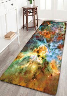 Galactics Print Flannel Antislip Star Sky Bath Mat