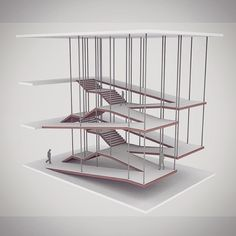 Brilliant! Combining the stairwell and ramp!