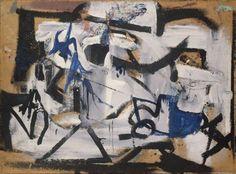 Gray Abstraction  1949 Franz Kline, American, 1910–1962 Medium: Oil on beaverboard