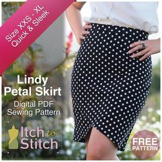 New Pattern Release - Lindy Petal Skirt (Free Pattern!) - Itch To Stitch