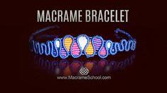Macramé Drops Bracelet (Teaser) Macrame School