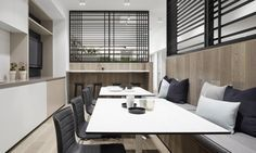 Little Group Office by Mim Design | www.delightfull.eu #delightfull #uniquelamps #lightingdesign #homeinteriordesign #australiandesign