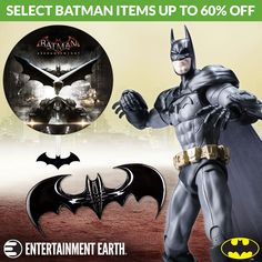 In honor of Batman Day (September 17), get up to 60% off select in-stock Batman items for one week only! Decorate your Batcave with Batman artwork, nesting dolls, and more fun collectibles. With great deals and limited quantities, these items are sure to go fast, so don't wait - buy now and save!  TO BUY CLICK ON LINK BELOW http://tomatovisiontv.wix.com/tomatovision2#!action-figure/c1t9c
