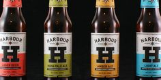 """""""The Harbour Brewing Company is a 'progressive and innovative' North Cornwall based craft brewery run by Rhys Powell and Eddie Lofthouse that was launched earlier this year. Their identity, created by independent design studio A-Side, mixes a nautical theme with bold typography and craft beer cues to capture the brands traditional sense of quality and its creative approach to brewing."""""""