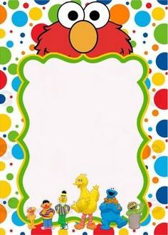 free sesame street invitation template | maddie's first bday, Party invitations