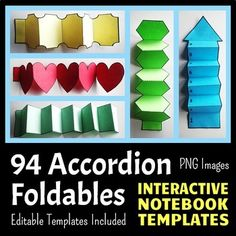 Interactive Notebook Templates - Easy to Cut Accordion Pac