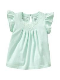 Baby Girls' Tops: ruffle button tops, cotton tops, kimono tops, thermal hoodies at babyGap | Gap