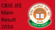 jeemain.nic.in-Joint Entrance Exam Main Result 2016-CBSE JEE Main Results 27-4-2016