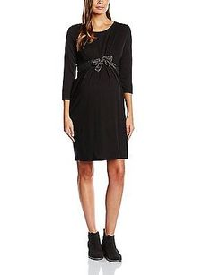 14, Black - Black, BALLOON 9 LUNES Women's Robe Jersey Long sleeve Dress NEW