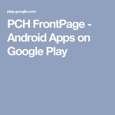 PCH FrontPage - Android Apps on Google Play