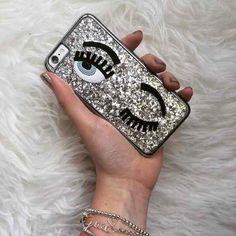 funda rigida brillos ojos chiara ferragni iphone 5 5s 6