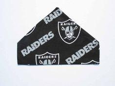 Raiders Football Dog Bandana Dog Costume Sports by CookiesDogHouse