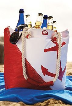 Check out this great Anchor Cooler Tote for your beach days!