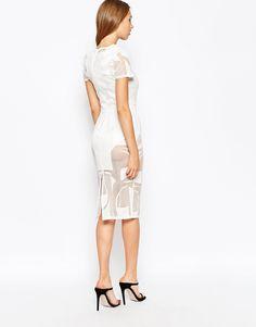 Image 2 ofASOS Geo Lace Bodycon Midi Dress