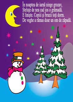 Noapte de iarnă #poezie Grinch Christmas Tree, Christmas Ornaments, Anul Nou, Holiday Decor, Winter, Kids, Winter Time, Young Children, Boys