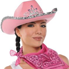 5c6d24b7962 Pink Rhinestone Cowgirl Hat - Party City Pink Cowboy Hat