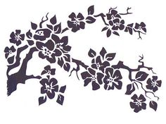 Cherry Blossom Stencil Mylar Stencil Flower por TheBeadSource