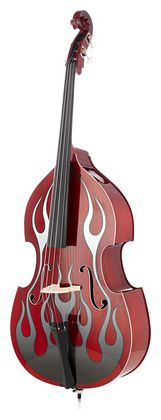 Thomann Rockabilly Flames RDE 3/4 scale upright bass