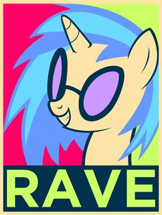 e621 english_text equestria-election equine eyewear female friendship_is_magic glasses hair horn mammal my_little_pony rave solo sunglasses text two_tone_hair unicorn vinyl_scratch_(mlp)