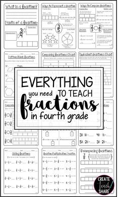 80+ pages to help teach fractions in 4th grade!!