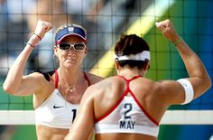 Misty May and Kerri Walsh..beach volleyball..look at those pipes!