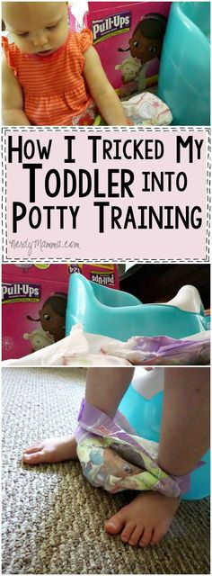 I love this mom's thoughts on how to trick your toddler into potty training--very funny. LOL! AD #TrainTogether