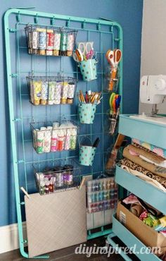 Craft room tour dinah at diy inspired diy tutorial how to upcycling cardboard boxes with washi tape fabric decorative storage organizer Craft Room Storage, Craft Organization, Diy Storage, Craft Rooms, Ribbon Storage, Organizing Life, Clothes Storage, Paper Storage, Storage Ideas