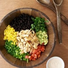 Southwestern Chicken Chopped Salad - load on the veggies!