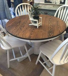 Finishing and old oak dining set.