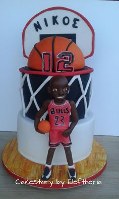 Basketball cake by Eleftheria Tarrou