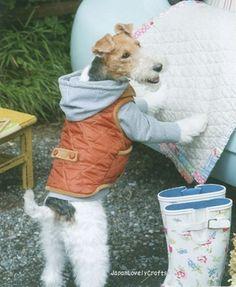 Japanese Sewing Pattern Book for Small-Size Dogs -  Kazuko Ryokai.