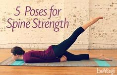Practice these five yoga poses for back strength that compliments flexibility. Deep, free breathing and all movements depend on a healthy spine.