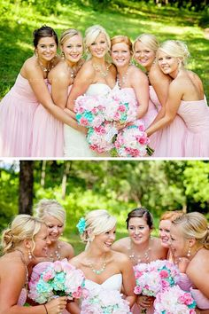 Sucha cute pink & loveee the flowers! Something different
