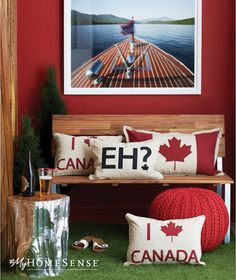 Discover unique decorative ideas for your home. HomeSense has a fine selection of Bed and Bath & Home Décor products at great prices. Find a HomeSense store near you. Elegant Home Decor, Elegant Homes, Country Decor, Rustic Decor, Canada Day Fireworks, Canada Day Crafts, Canada Day Party, Canada House, Canada Holiday