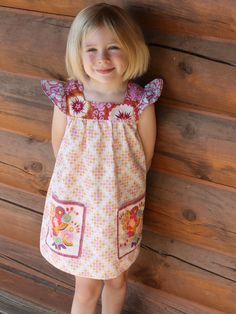 Girls Spring Play Dress  Square Neck Dress with by LottieDaBaby, $46.00