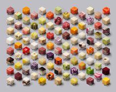 98 perfect gesneden blokjes voedsel dat perfectionisten zullen genieten ... Indrukwekkend!