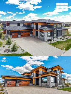 """The details are not the details, they make the design."" – Charles Eames Our Planks garage doors in Cedar Accents are the icing on the cake for this modern masterpiece in Alberta, CA. Order your FREE color samples today! (via Lethbridge Real Estate)"