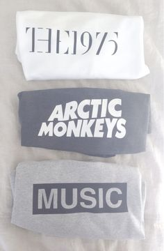 I don't listen to Arctic Monkeys but the other two shirts I really love