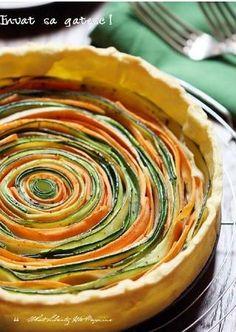 Carottes courgettes pâte feuilletée