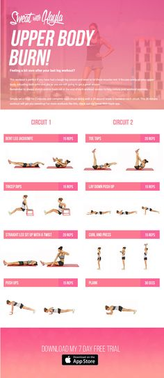 kayla itsines free workout, sweat with kayla, free upper body workout