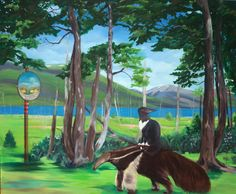 Original Landscape Painting by Gamze Olgun Oil On Canvas, Canvas Art, Going Home, House Painting, Figurative Art, Saatchi Art, Original Paintings, Horses, Landscape