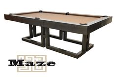 Our Canada Billiards Tables offer a variety of 2 in 1 tables that can be easily converted from dining tables to pool tables. View the La Condo Colonial table! Contemporary Style, Mid-century Modern, Eclectic Design, Interior Design, Dream Pools, Rebounding, Wood Blocks, Maze, Designs To Draw