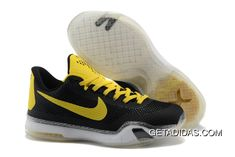 d370c9f59150 Nike Kobe 10 Yellow Black Shoes TopDeals