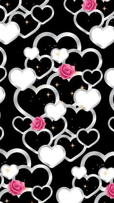 Heart & Roses Wallpaper... By Artist Unknown...
