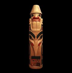 Raven Steals Box of Light from Sky Chief Totem ~ Tim Boyko ~ Coastal Peoples Fine Arts Gallery