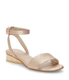 GB So-Sheek Patent Leather Block Heel Dress Sandals 34WK7X5