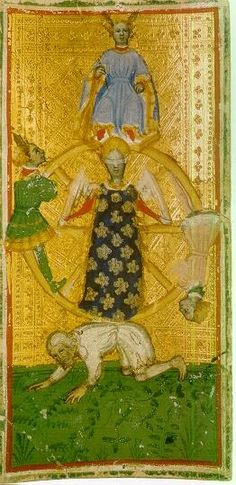 One of the oldest Tarot cards, the Fortuna of the Brera Brambilla deck