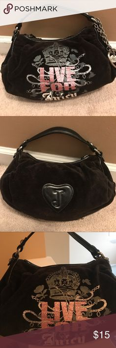 Black Juicy Couture Handbag Used Black Juicy Couture Handbag! In great condition with perfect functionality! Juicy Couture Bags Mini Bags